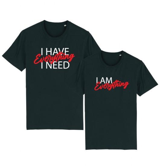 Тениски за двойки с надпис I Have Everything / I am Everything