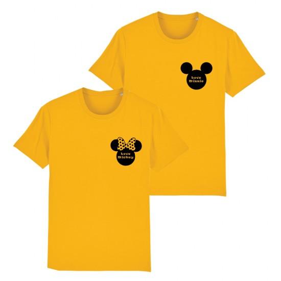 Тениски за двойки Love Minnie / Love Mickey