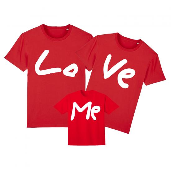 Комплект семейни тениски LO VE ME