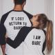 Бейзболни тениски за двойки IF LOST RETURN TO BABE / I AM BABE