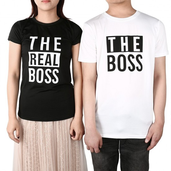 Тениски за двойки THE BOSS / THE REAL BOSS