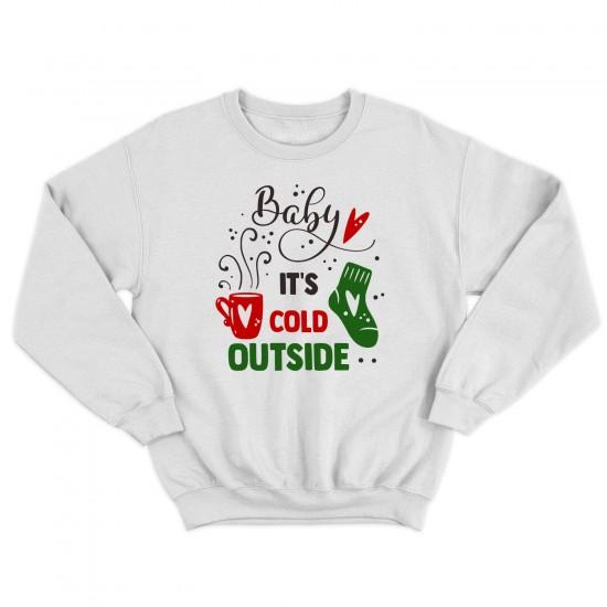 Мъжка Коледна блуза BABY IT'S COLD OUTSIDE
