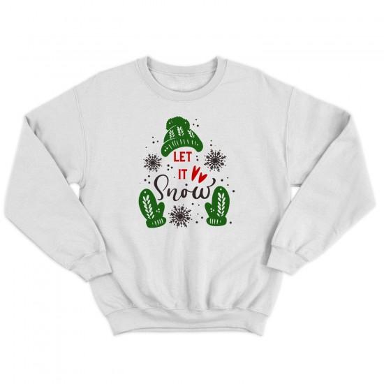 Мъжка Коледна блуза LET IT SNOW