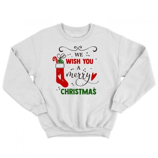 Мъжка Коледна блуза WE WISH YOU A MERRY CHRISTMAS