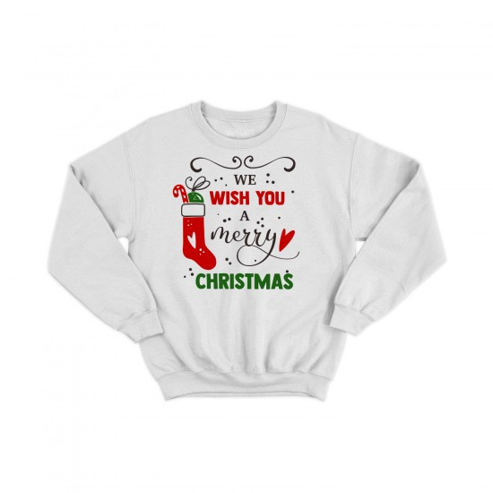 Дамска Коледна блуза WE WISH YOU A MERRY CHRISTMAS