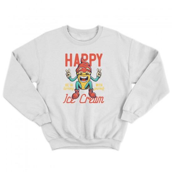 Мъжка блуза с щампа HAPPY ICE CREAM