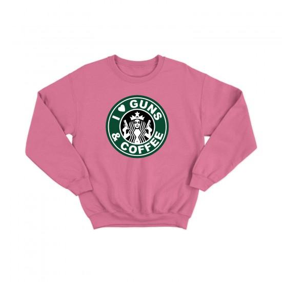 Дамска Блуза с щампа I LOVE GUNS & COFFEE / ОБИЧАМ КАФЕ