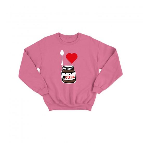 Детска блуза с щампа I LOVE NUTELLA / АЗ ОБИЧАМ НУТЕЛА
