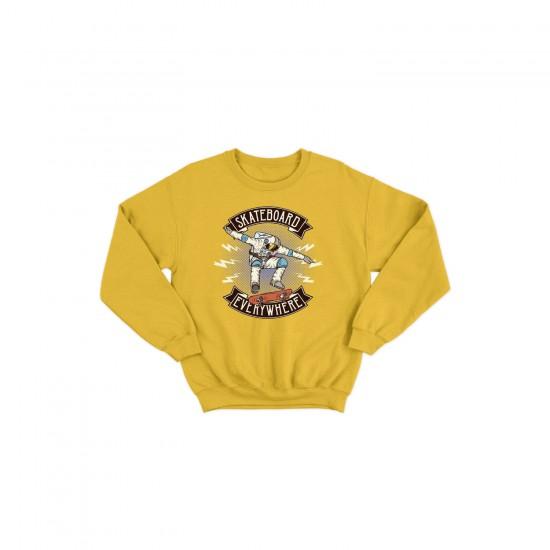 Детска блуза с щампа SKATEBOARD EVERYWHERE