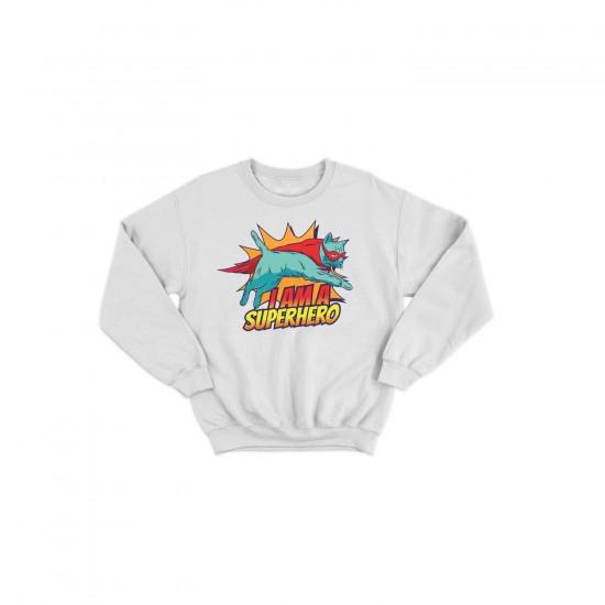 Детска блуза с щампа SUPERCAT