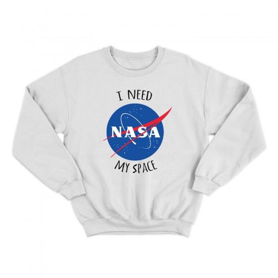 Мъжка блуза с щампа NASA I NEED MY SPACE
