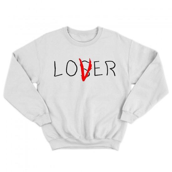 Мъжка блуза с надпис LOVER