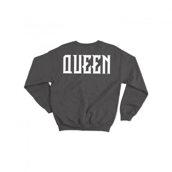Блузи за двойки с надписи KING / QUEEN
