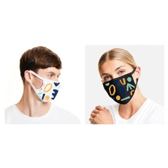 Защитна маска с цветен принт - символи