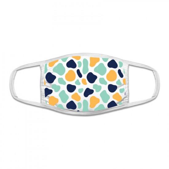 Защитна маска с цветен принт - петна