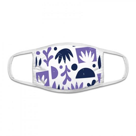Защитна маска с цветен принт - лилави форми