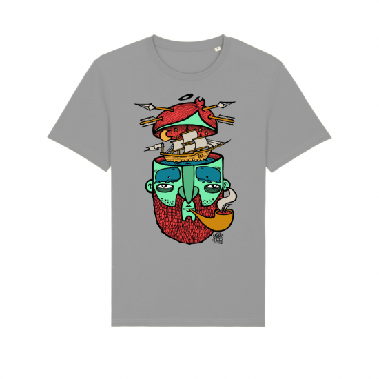 """Тениска с дизайн """"Пътувай в мислите си"""""""