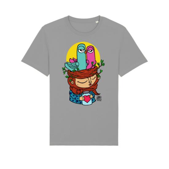 """Тениска с дизайн """"Момичето с гълъбите"""""""