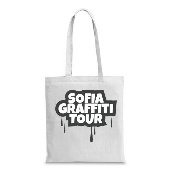 Чанта с надпис Sofia Graffiti Tour