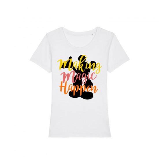 Дамска тениска с щампа MAKING MAGIC HAPPEN