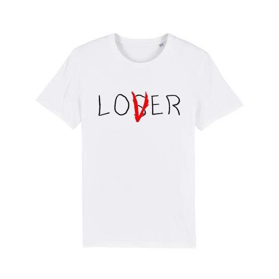Мъжка тениска с надпис LOVER