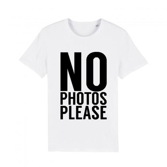 Мъжка тениска с надпис NO PHOTOS PLEASE