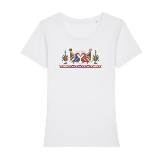 Дамска тениска с щампа шевица ПЕТЛЕТА