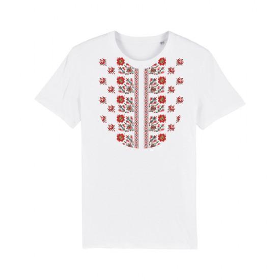 Мъжка тениска с щампа шевица РОЗИ