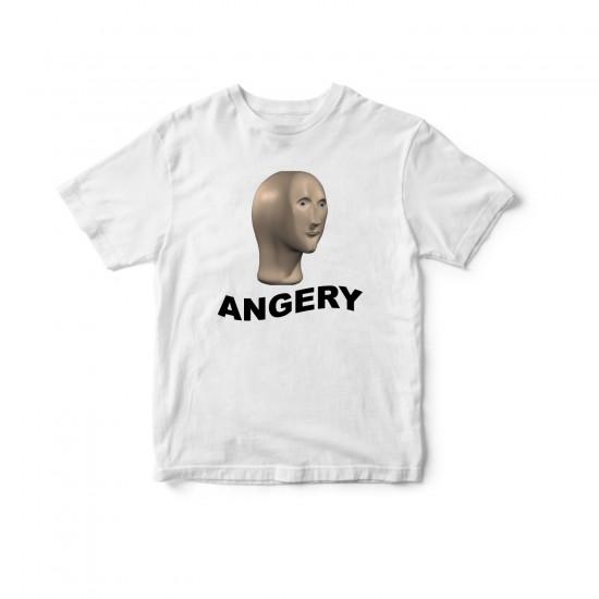 Тениска с меме щампа ANGERY