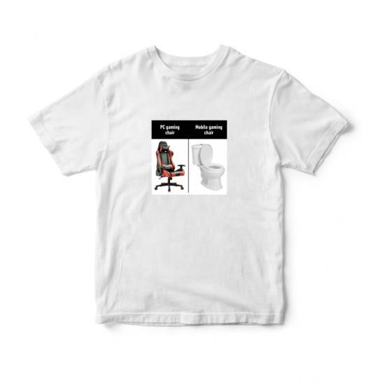 Тениска с меме щампа ГЕЙМЪРСКИ СТОЛОВЕ
