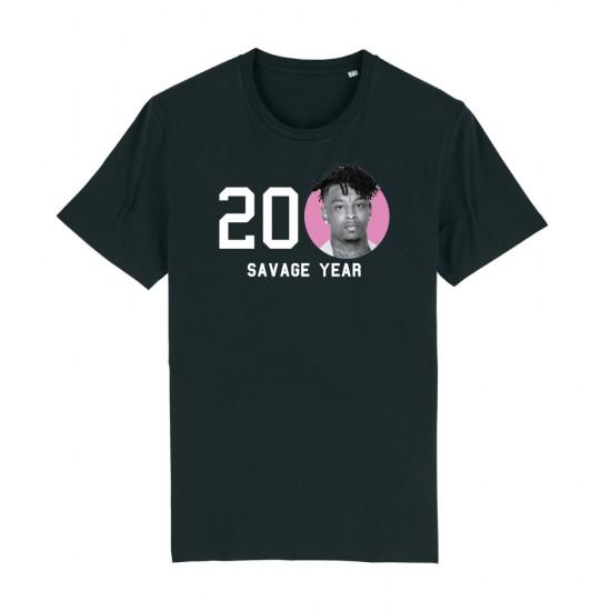 Тениска с щампа 20 21 savage year