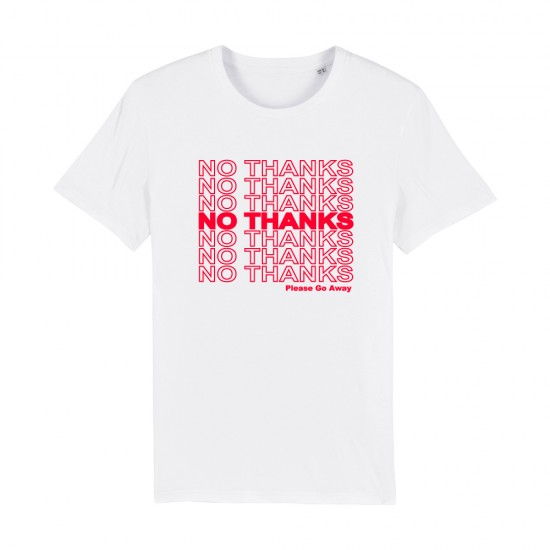 Тениска с надпис NO THANKS... please go away